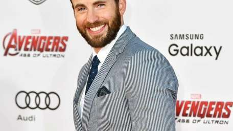 Chris Evans arrives at the Los Angeles premiere