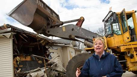 Hempstead Town Supervisor Kate Murray is shown with