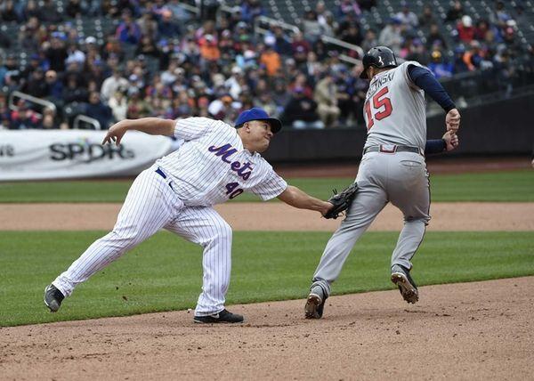 New York Mets starting pitcher Bartolo Colon picks