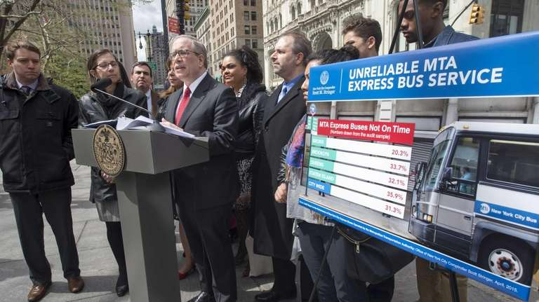 City Comptroller Scott M. Stringer is joined by