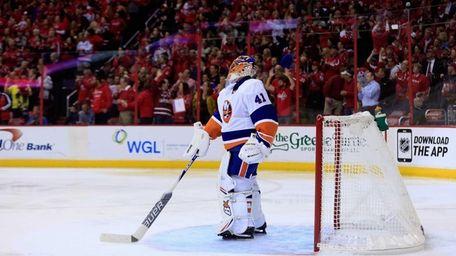 Goalie Jaroslav Halak of the New York Islanders