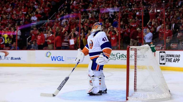 Goalie Jaroslav Halak of the New York Islanders