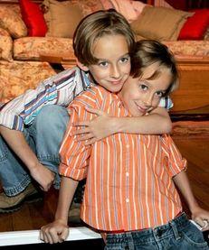 Twin brothers Sawyer Sweeten, left, and Sullivan Sweeten