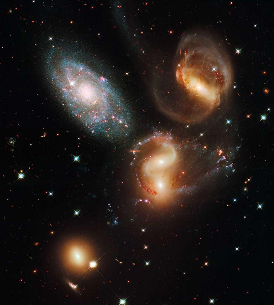 This image shows a group of five galaxies