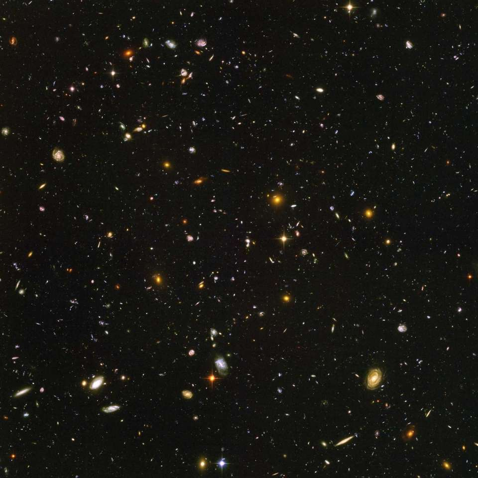 This image shows nearly 10,000 galaxies in the