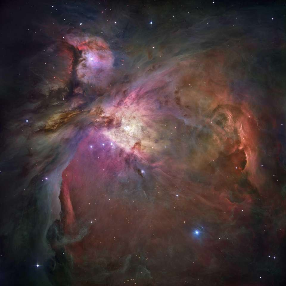 This image shows the Orion Nebula and the