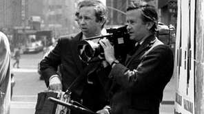 Documentary filmmakers David, left, and Albert Maysles work