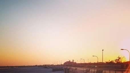 The Jones Beach boardwalk.