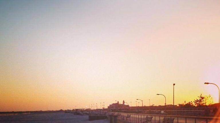 The Jones Beach boardwalk.