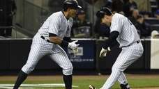 New York Yankees designated hitter Alex Rodriguez and