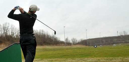 Nick Miller, 22, of Williston Park, practices his