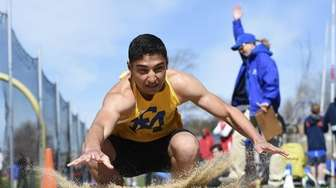 Usman Saeedullah of East Meadow competes in the