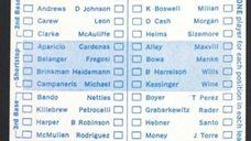 1971 Major League All-Star Game ballot.