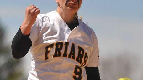 St. Anthony's pitcher Gabriella Marcheschi delivers to the