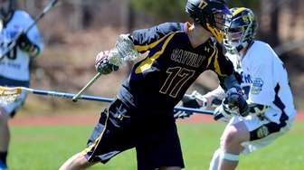 Sayville attack Jack Coan looks for room to