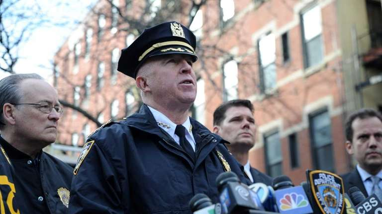 NYPD Chief of Department James O'Neill speaks Saturday,