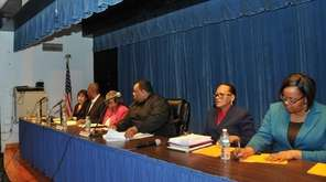 The Hempstead School Board convened for a special