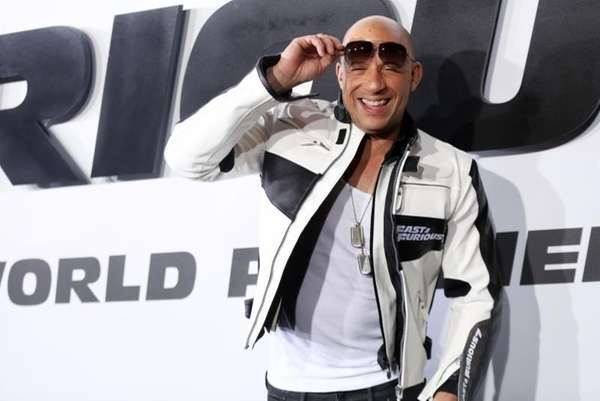 Vin Diesel arrives at the premiere of