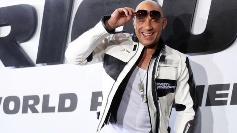 Vin Diesel arrives at the premiere of