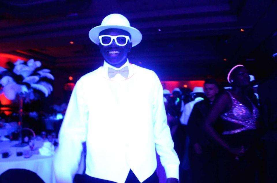 Farmingdale High School junior Scott Williams' white suit,