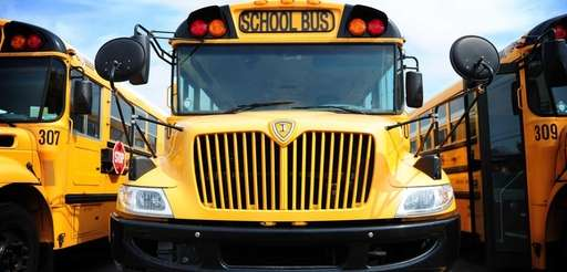 A school bus in the Connetquot School district's