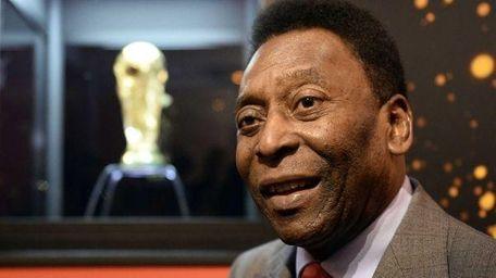 Soccer great Pele in photo taken in Brazil