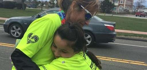 At the end of her 150-mile run from