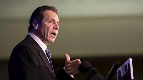 Gov. Andrew M. Cuomo speaks at the Association