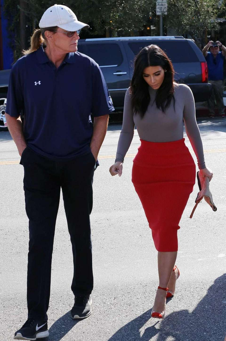 Bruce Jenner and Kim Kardashian head back to
