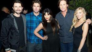 From left, Brandon Jenner, Brody Jenner, Kim Kardashian,