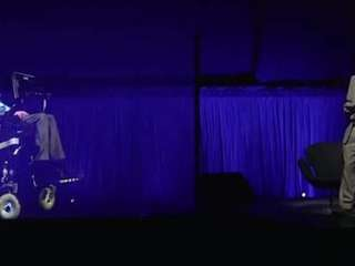 Stephen Hawking appeared at the Sydney Opera House
