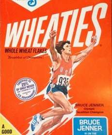 """""""Bruce Jenner's on the Wheaties team!"""" reads the"""