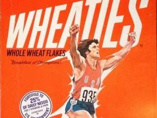 """Bruce Jenner's on the Wheaties team!"" reads the"