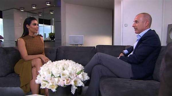 Kim Kardashian interview with Matt Lauer on NBC's