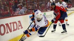 Brian Strait #37 of the New York Islanders
