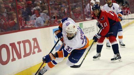 Brian Strait #37 of the New York Islanders