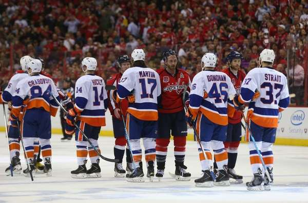 The Washington Capitals and the New York Islanders