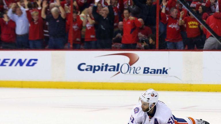 Frans Nielsen #51 of the New York Islanders