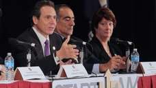 Gov. Andrew M. Cuomo speaks on Oct. 22,