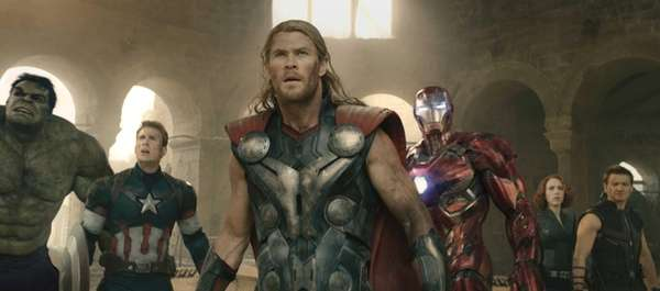 From left, Hulk (Mark Ruffalo), Captain America (Chris