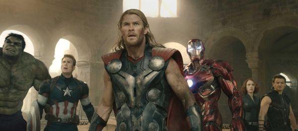 From left, Hulk (Mark Ruffalo), Captain America (Chris