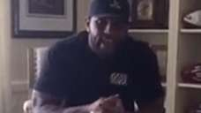 Former Ravens linebacker Ray Lewis delivered a passionate