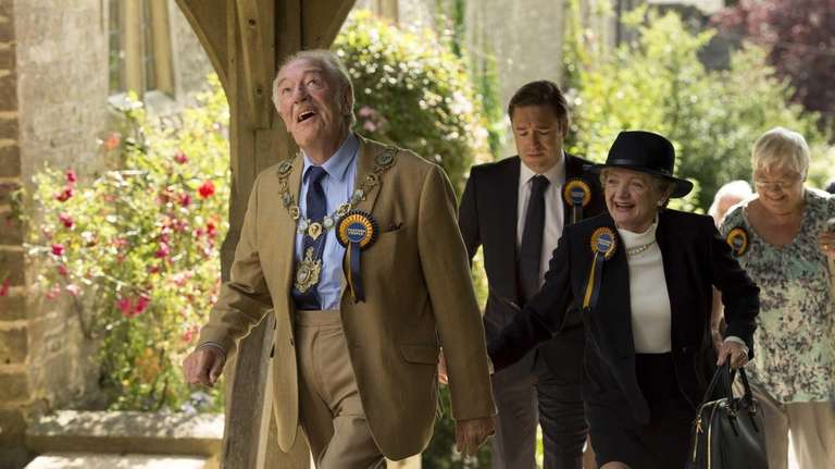 From left, Michael Gambon, Rufus Jones and Julia