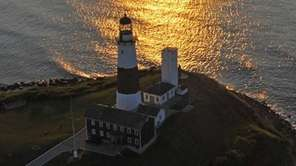 The sun rises over Montauk Point as seen