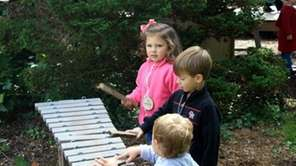 Kids can explore nature while building, digging, climbing,