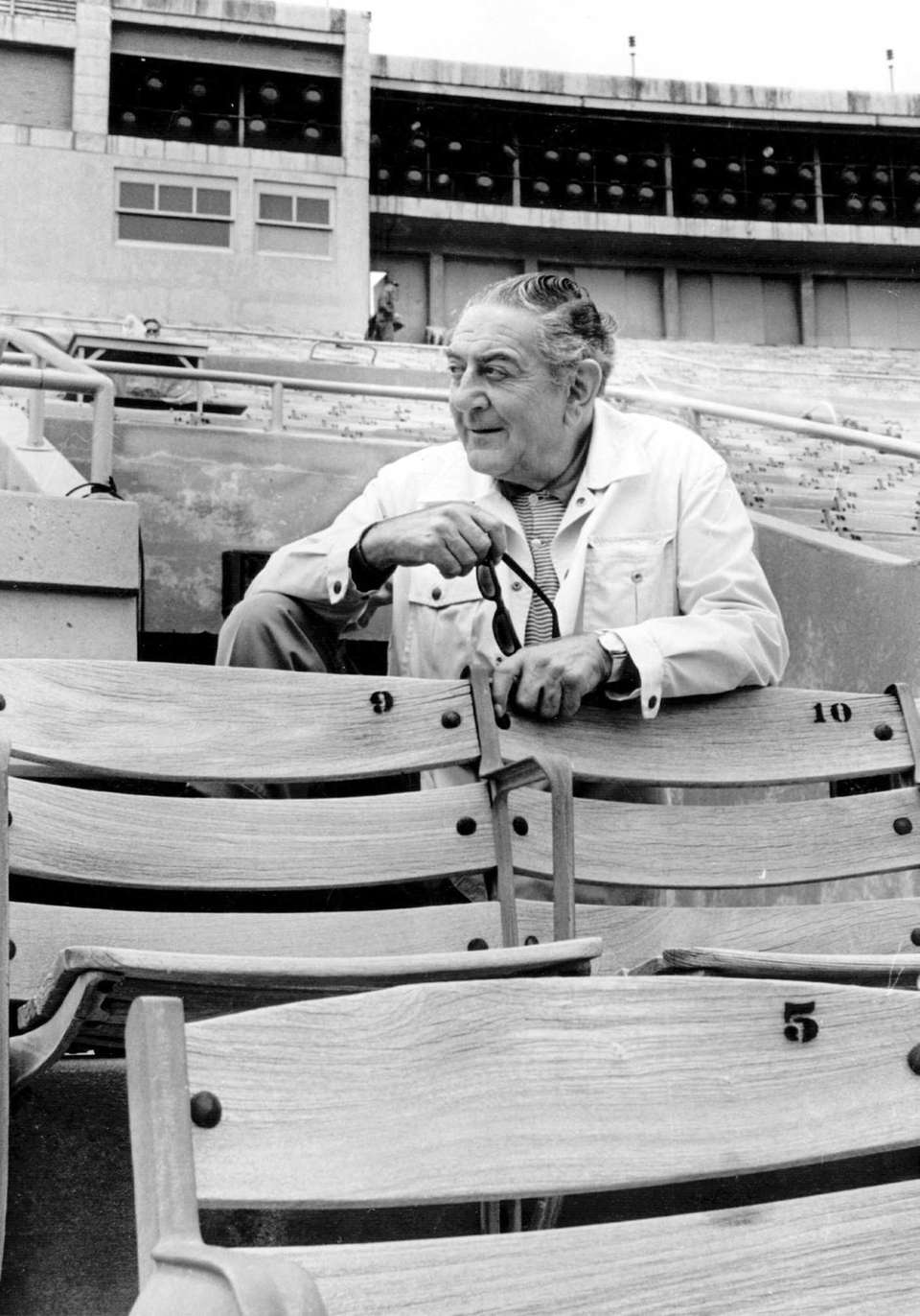 Producer Guy Lombardo watching a rehearsal of