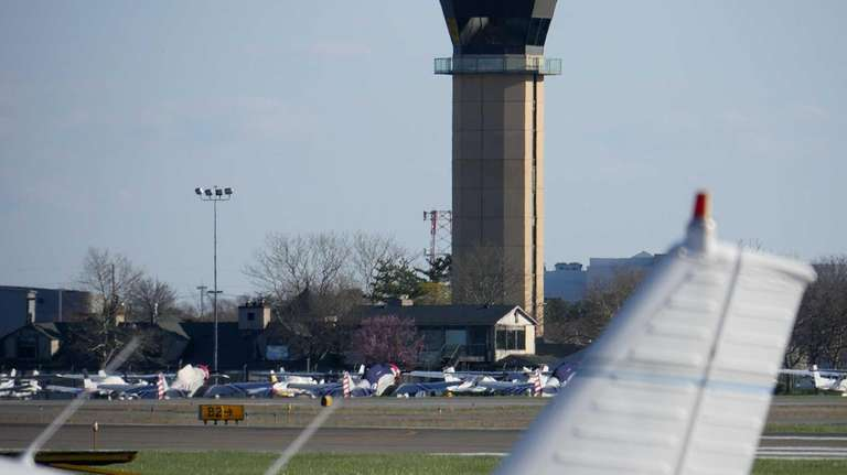 The control tower at Republic Airport in East