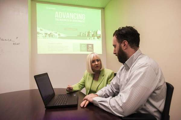 Town Supervisor, Judi Bosworth, left, takes a tour