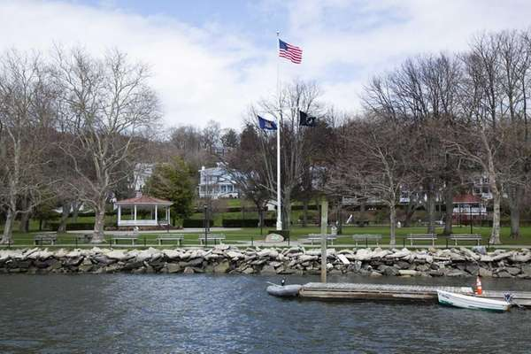 Northport Village Park as seen from the village