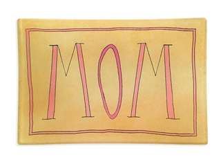 With this charming Handwriting Mom Glass Decoupage Tray,